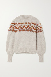 Chloé Fair Isle alpaca-blend sweater
