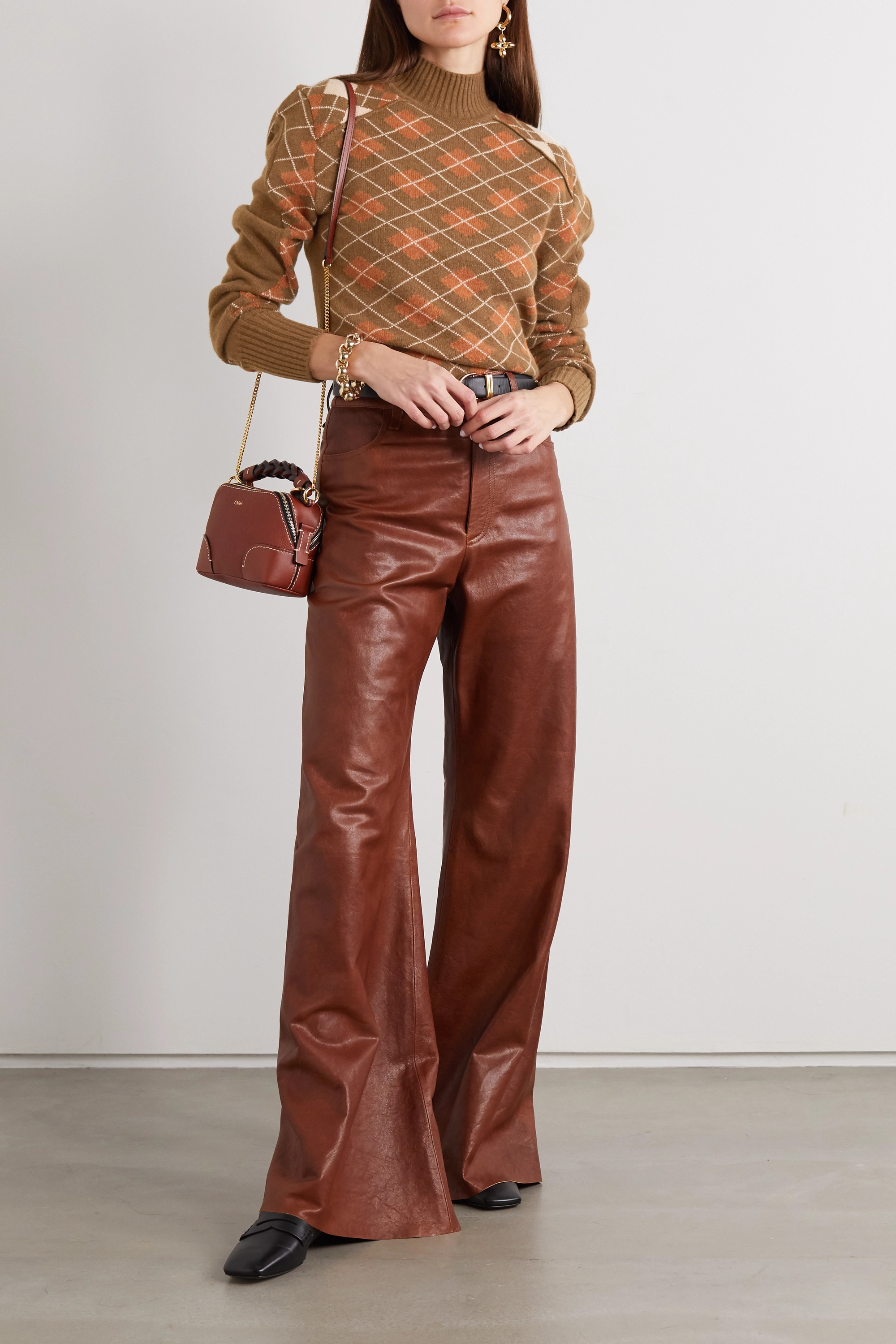 Chloé Argyle wool and cashmere-blend turtleneck sweater