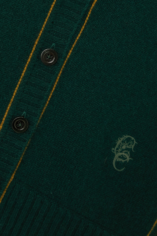 Chloé Silk-trimmed cashmere cardigan