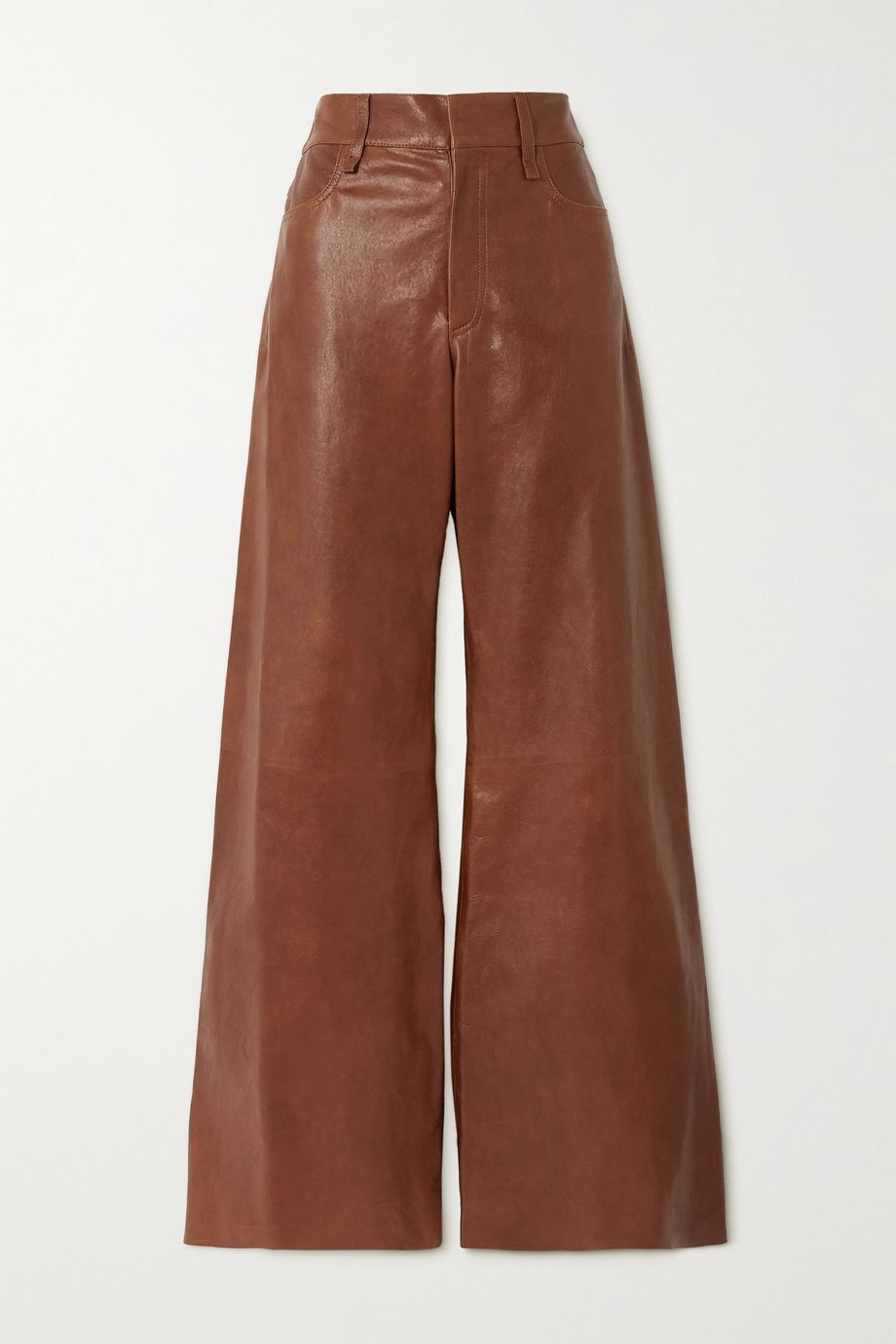 Chloé Leather flared pants