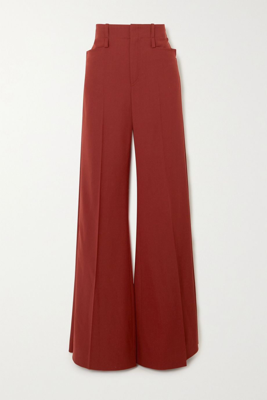 Chloé Grain de poudre wool-blend wide-leg pants