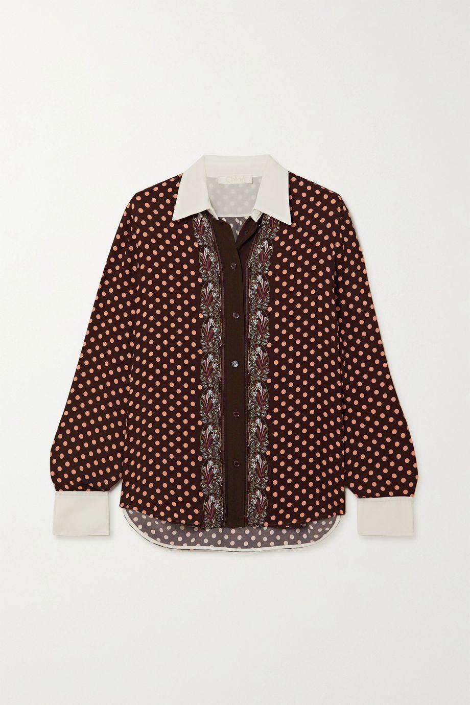 Chloé Printed crepe shirt
