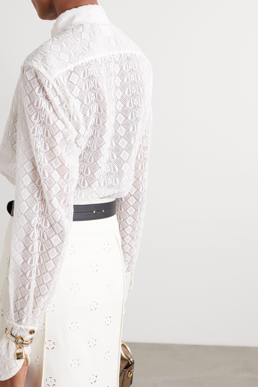 Chloé Hemd aus bestickter Seidenspitze