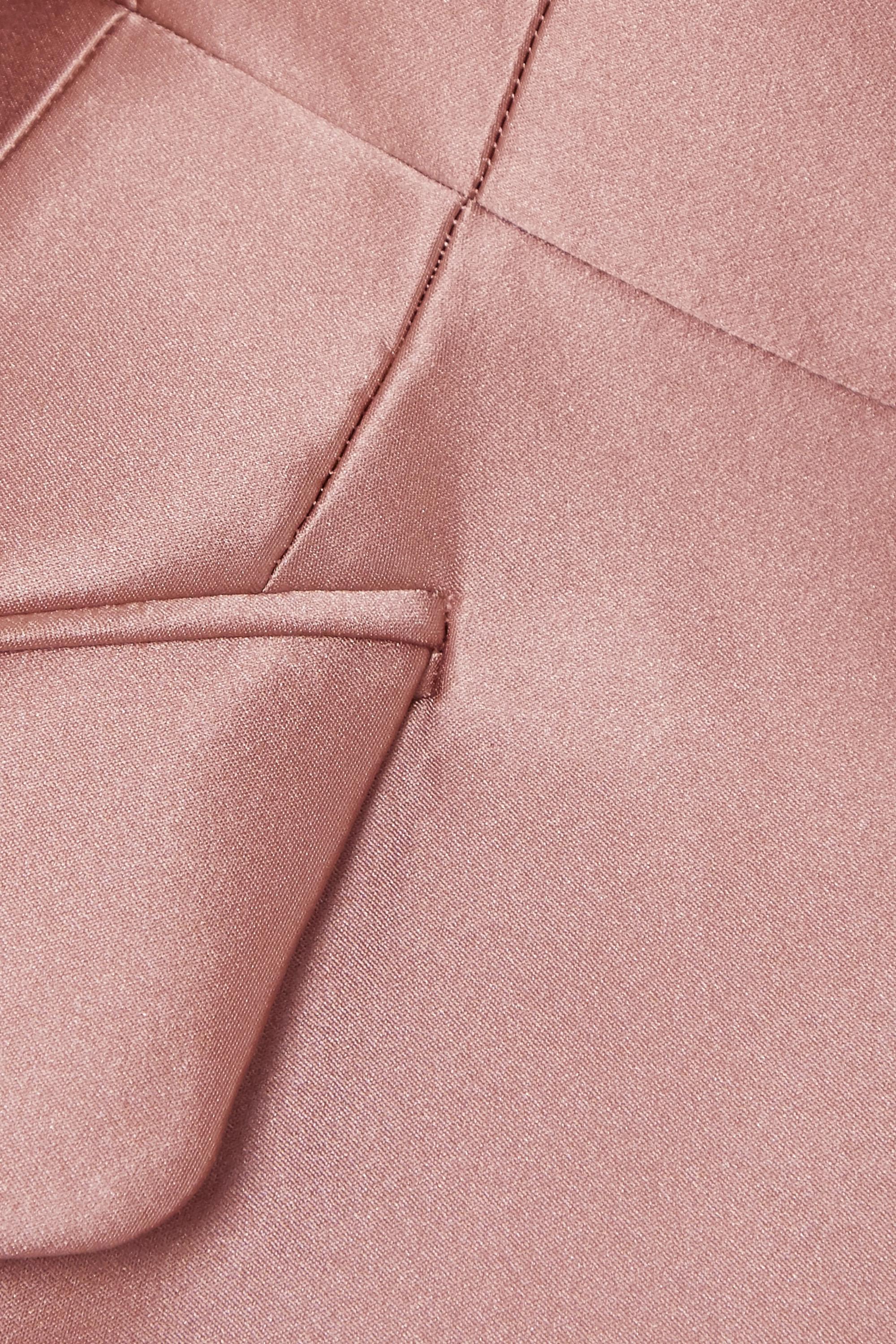 Alexander McQueen Duchesse silk-satin blazer