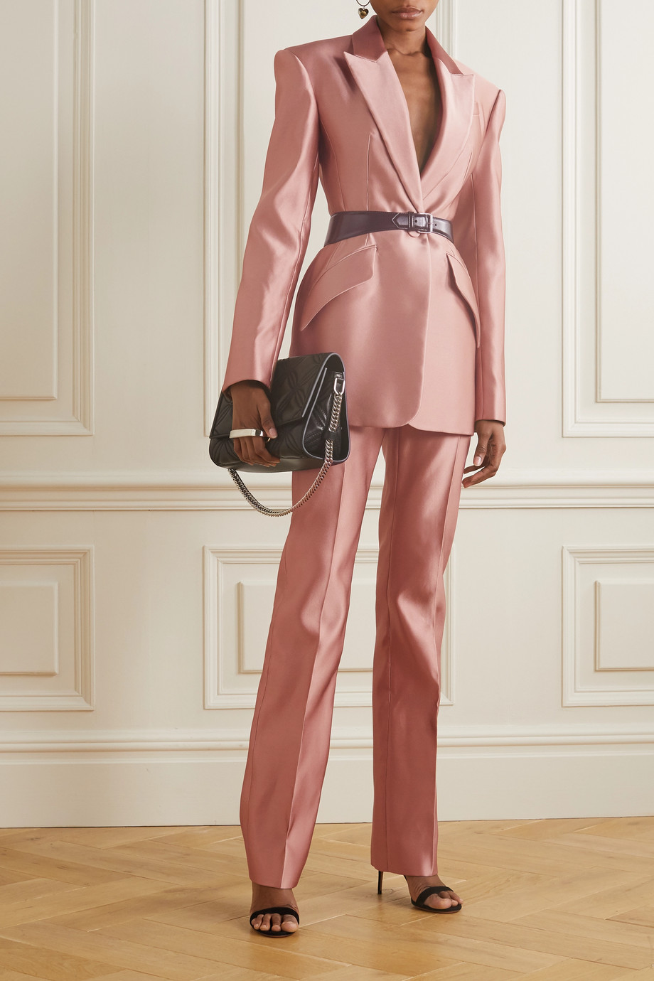 Alexander McQueen Duchesse silk-satin straight-leg pants