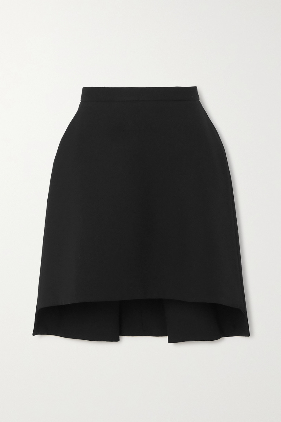 Alexander McQueen Asymmetric wool-blend crepe mini skirt