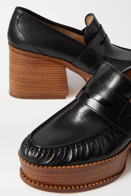 Gabriela Hearst Augusta leather platform pumps