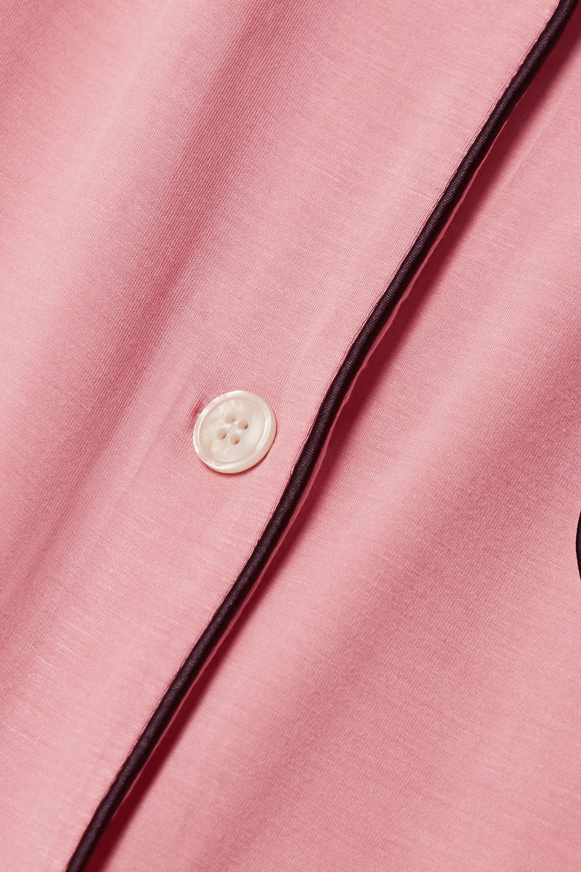 Morgan Lane Katelyn Chantal piped stretch-jersey pajama set