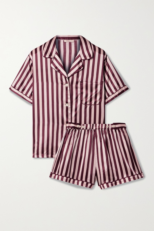 Morgan Lane Katelyn Corey striped satin pajama set