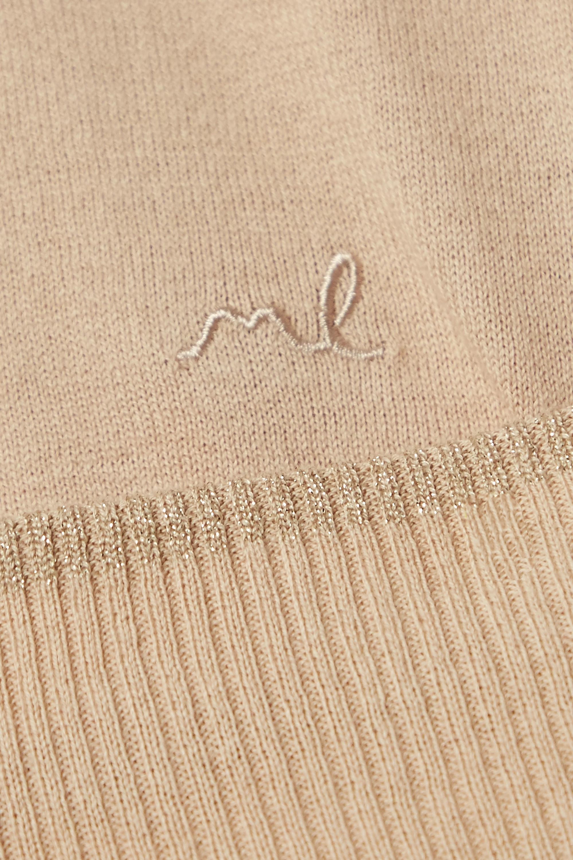 Morgan Lane Charlee Hailey metallic-trimmed cotton-blend pajama set