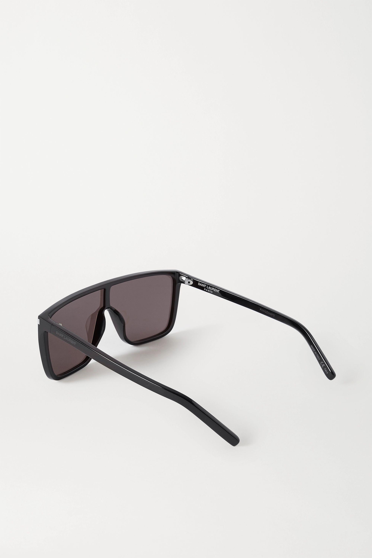 SAINT LAURENT Mask Ace Sonnenbrille mit D-Rahmen aus Azetat