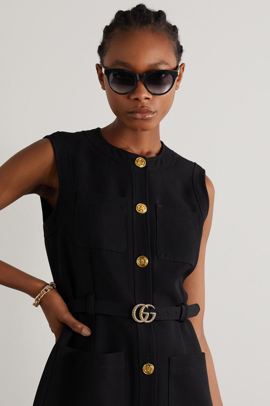 Gucci Sonnenbrille mit rundem Rahmen aus Azetat