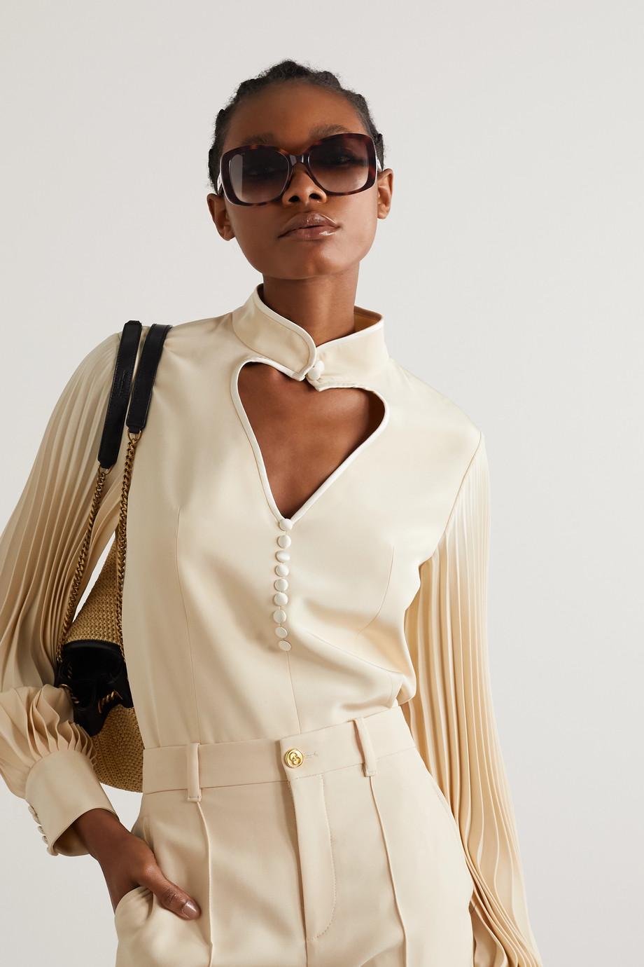 Gucci Square-frame tortoiseshell acetate sunglasses