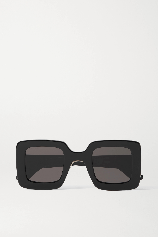 Gucci Sonnenbrille mit eckigem Rahmen aus Azetat
