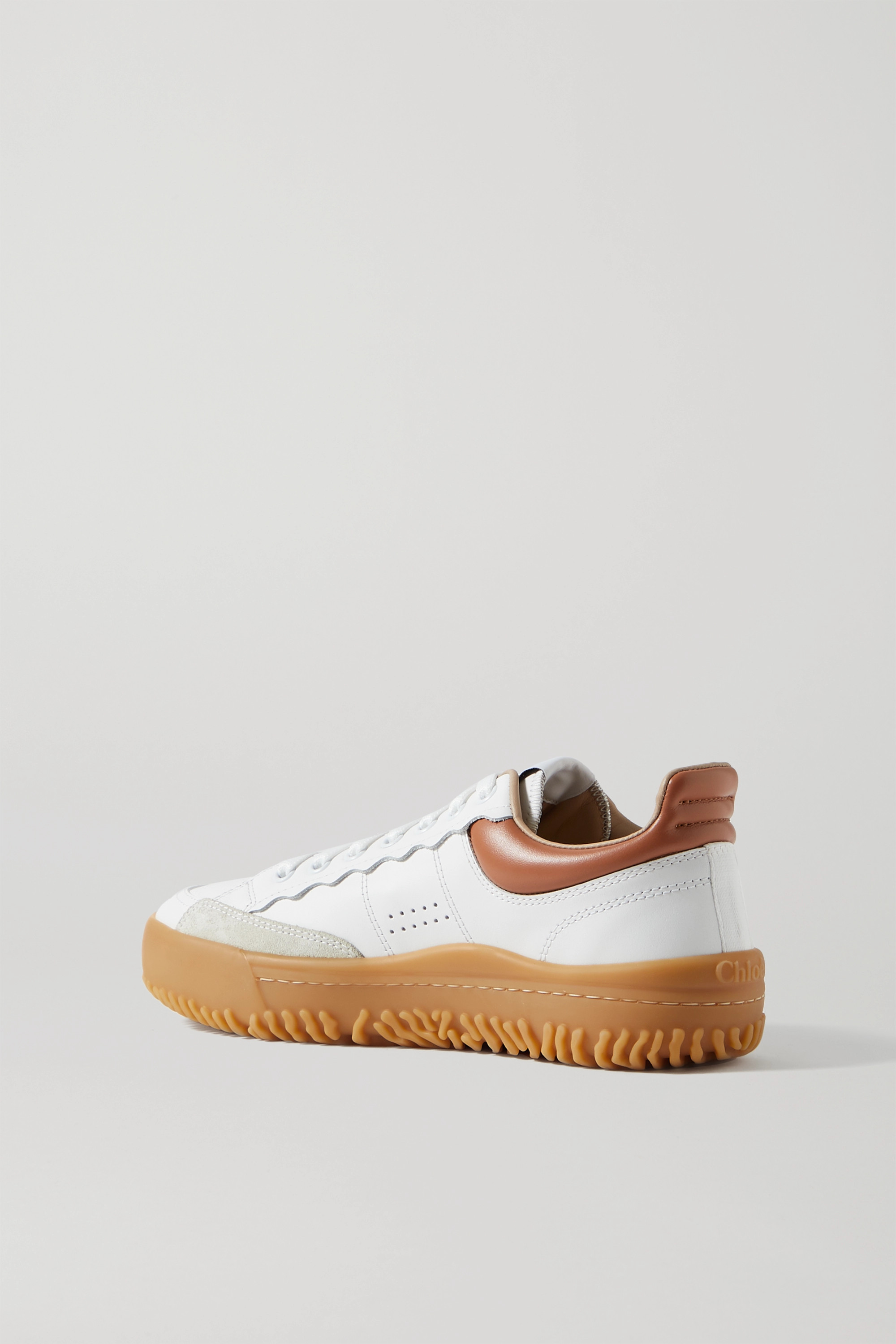 Chloé Franckie leather and suede sneakers