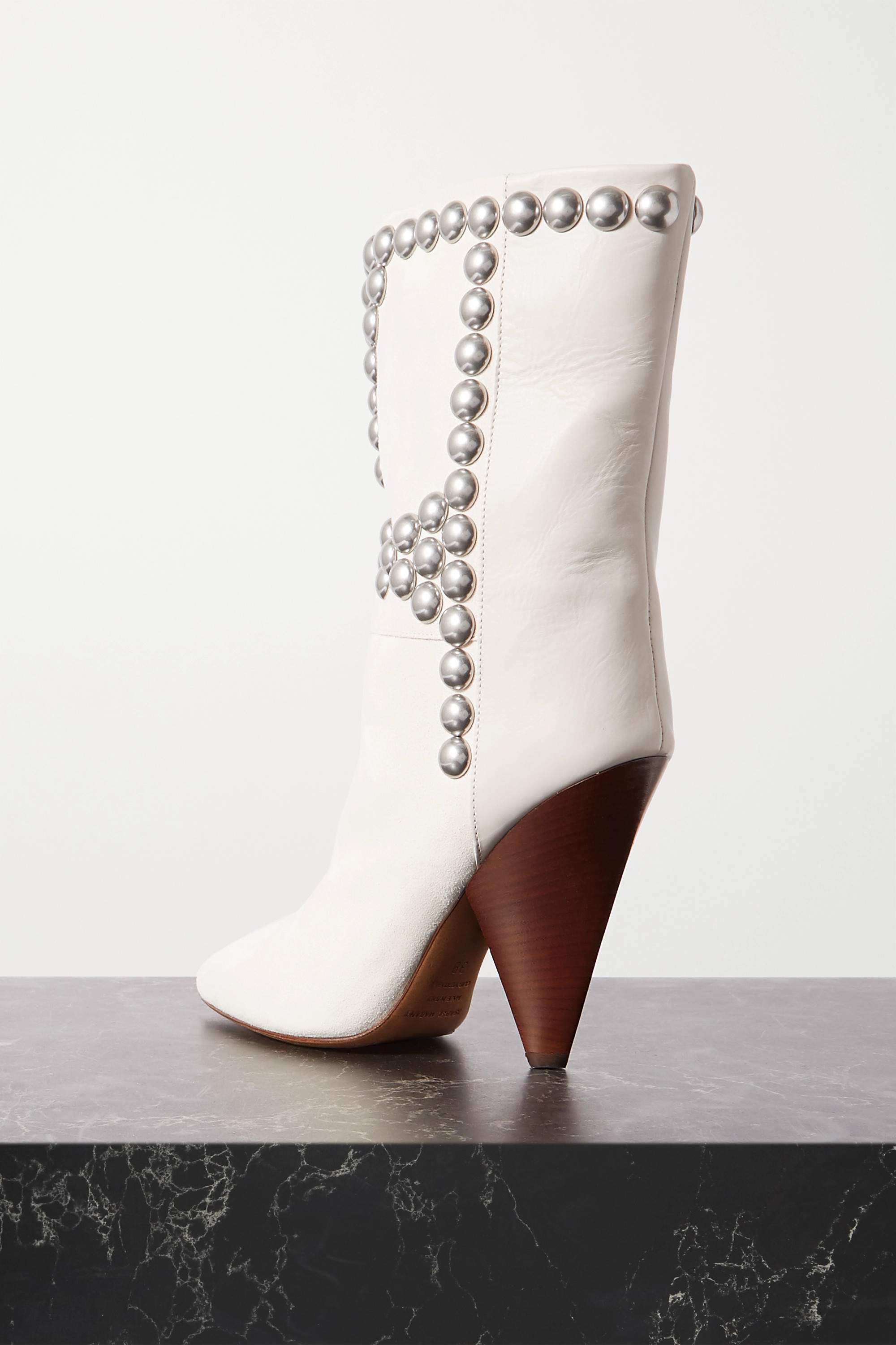 Isabel Marant Layo studded leather and suede ankle boots