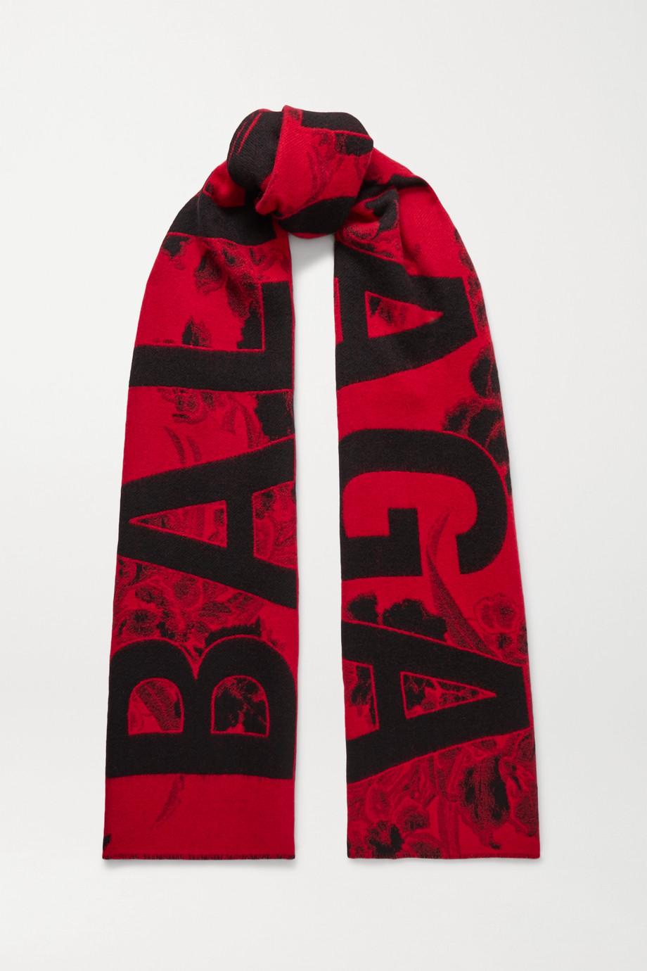 Balenciaga 羊毛提花围巾