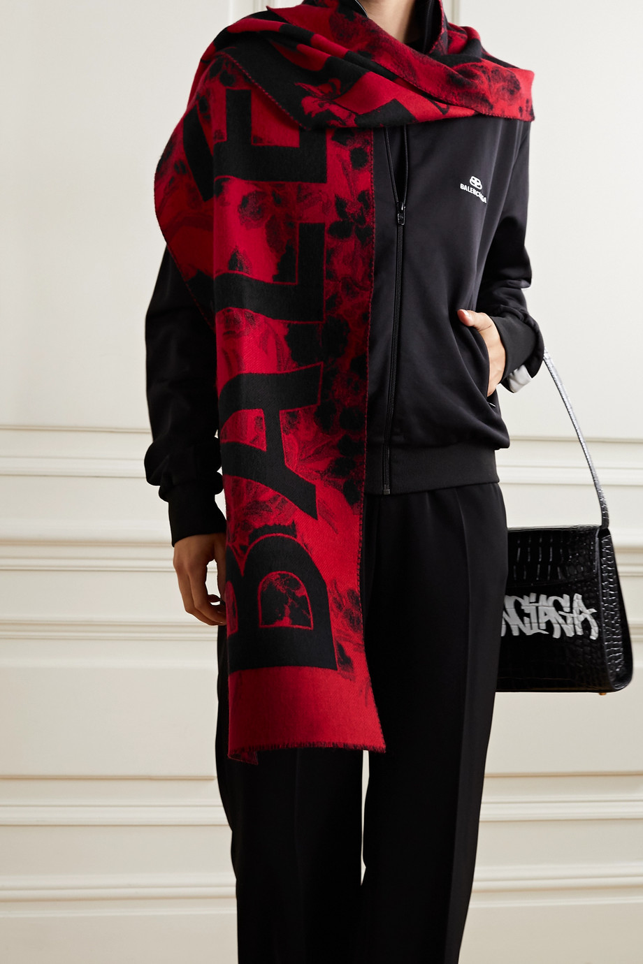 Balenciaga Wool-jacquard scarf