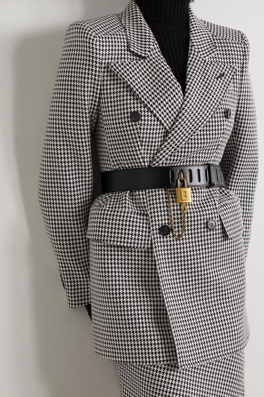 Balenciaga Chain-embellished leather belt