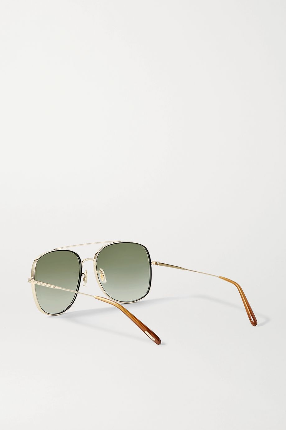 Oliver Peoples Taron aviator-style gold-tone sunglasses