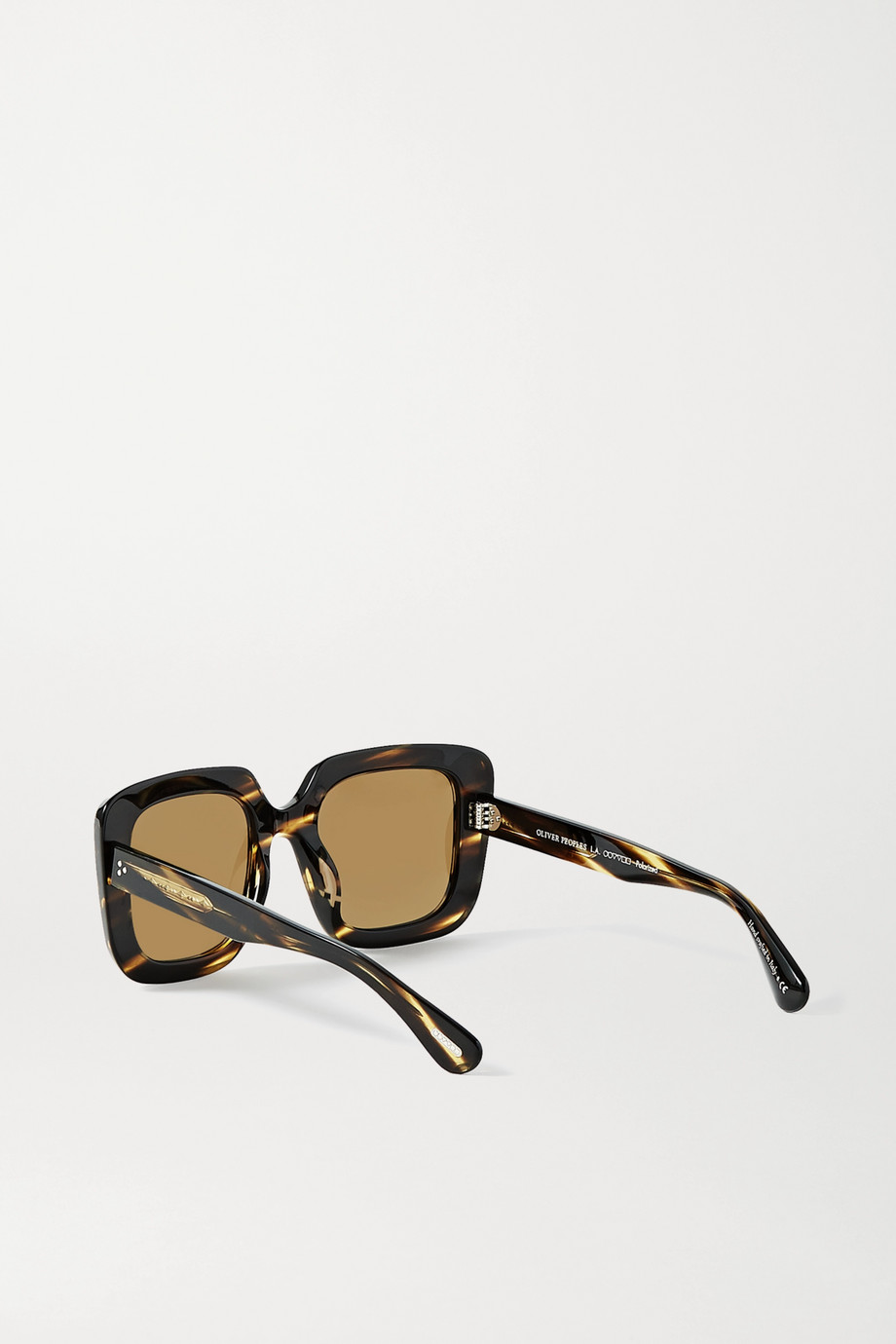 Oliver Peoples Franca oversized square-frame tortoiseshell acetate sunglasses