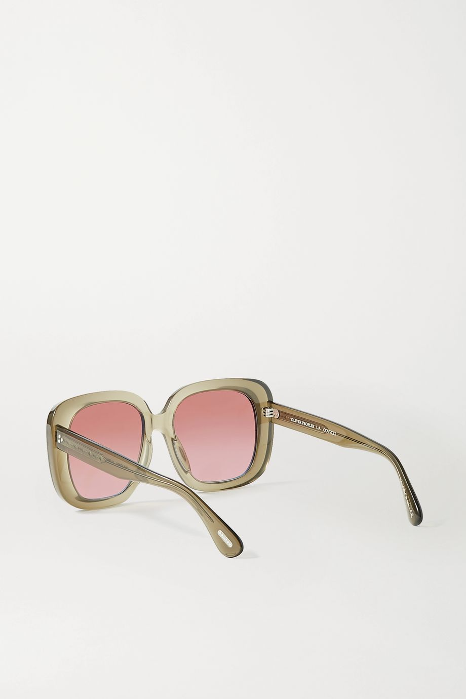 Oliver Peoples Nella oversized square-frame acetate sunglasses