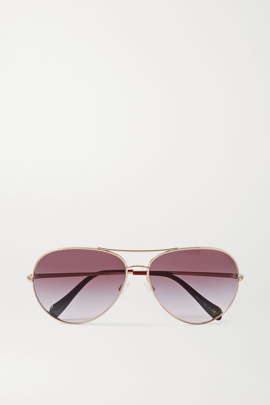 Oliver Peoples Sayer aviator-style rose gold-tone sunglasses