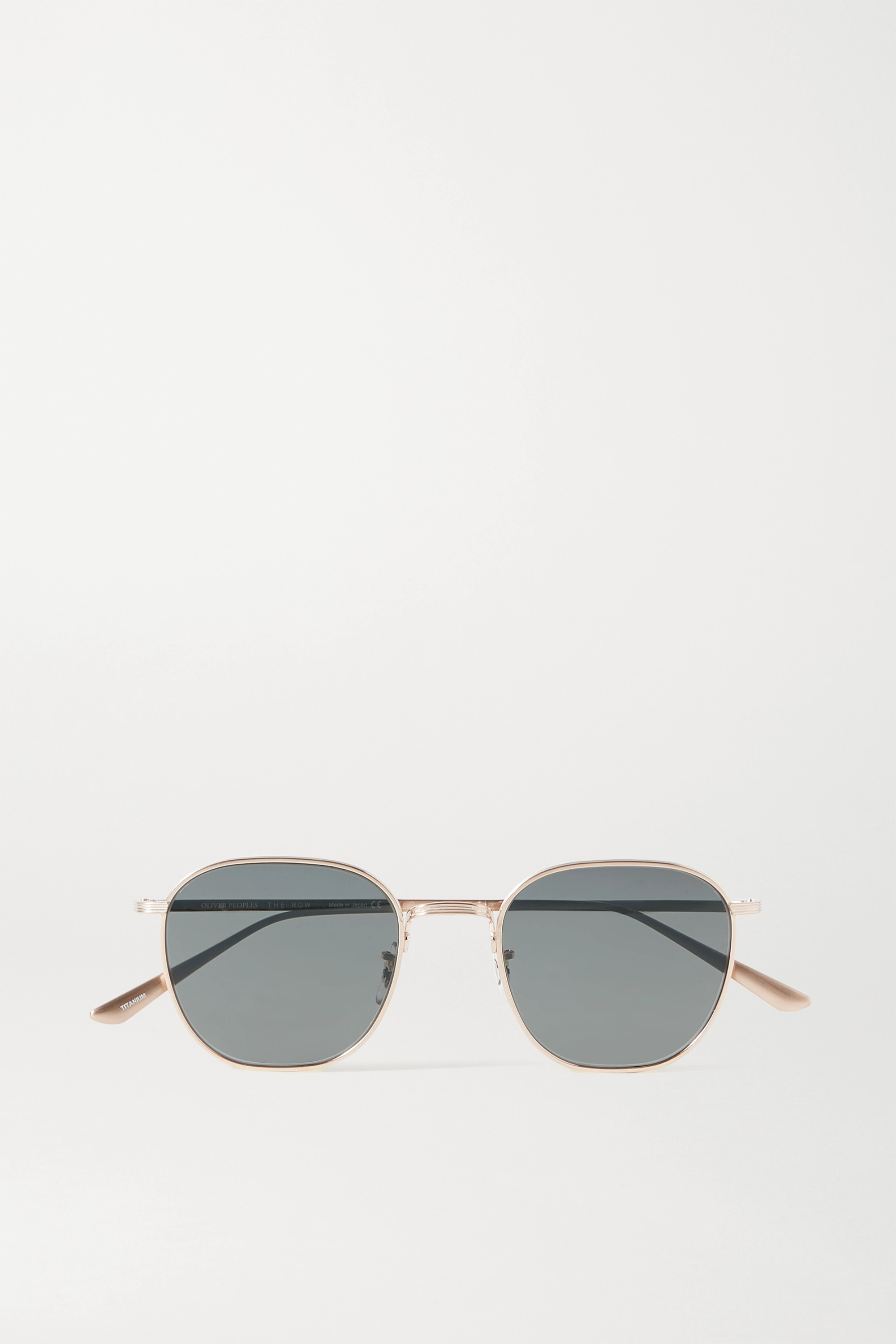 The Row + Oliver Peoples Board Meeting 2 round-frame gold-tone sunglasses
