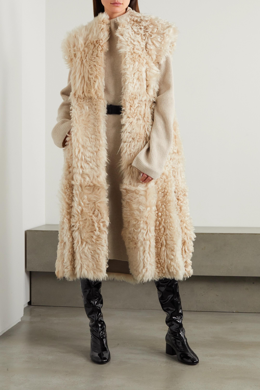 Isabel Marant Geltonia convertible shearling coat