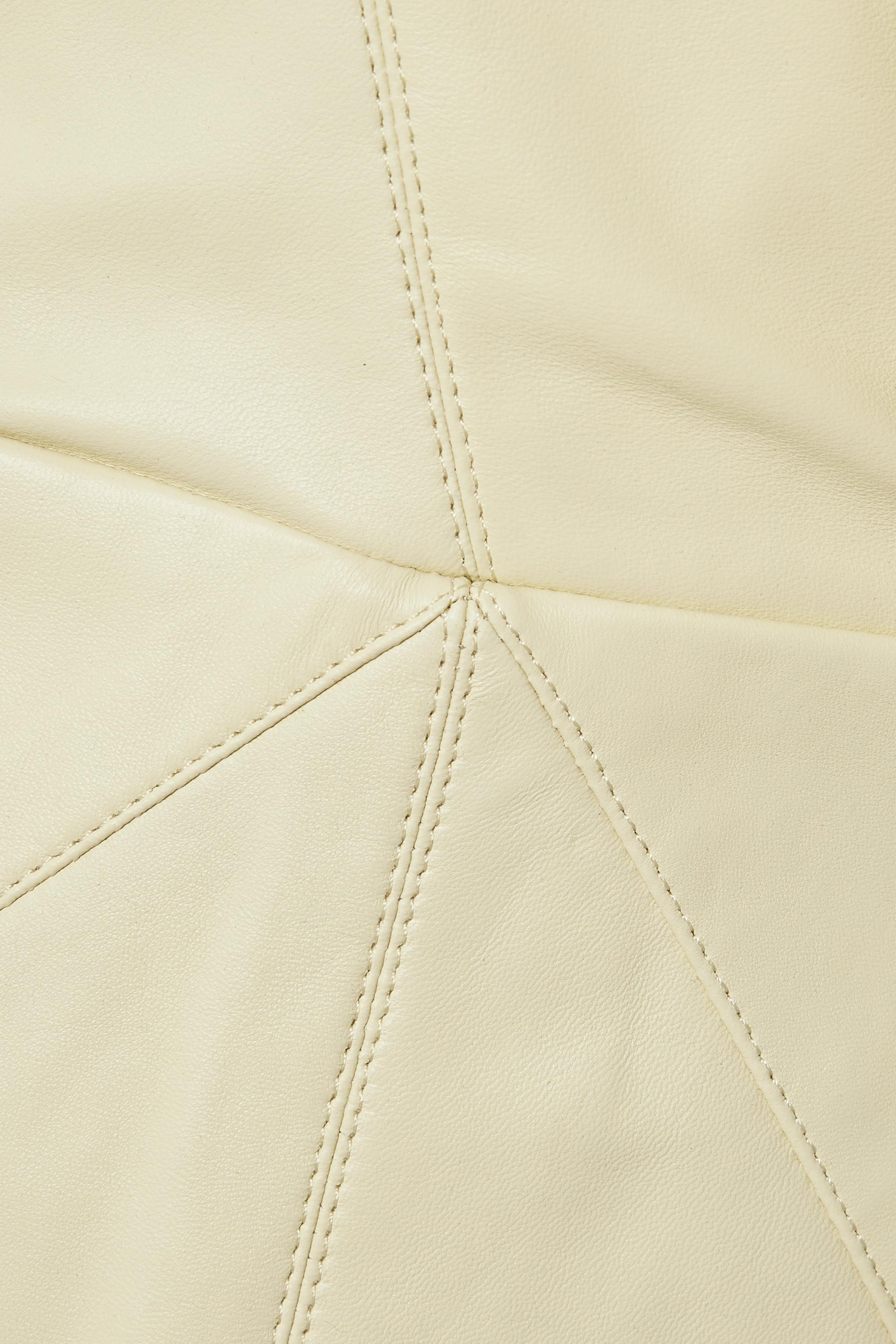 Isabel Marant Lazuli wrap-effect paneled leather midi dress