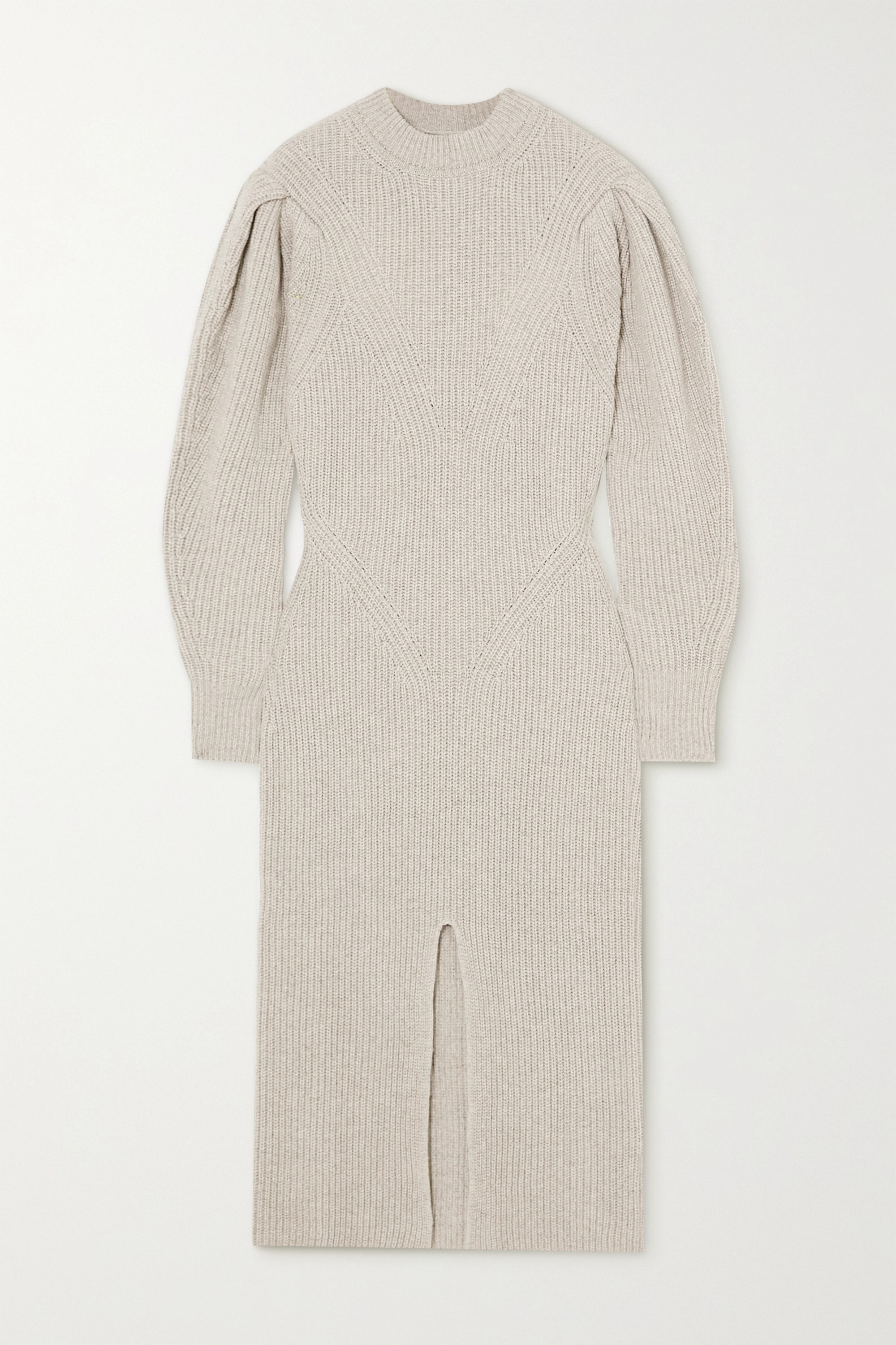Isabel Marant Perrine ribbed cashmere and wool-blend midi dress
