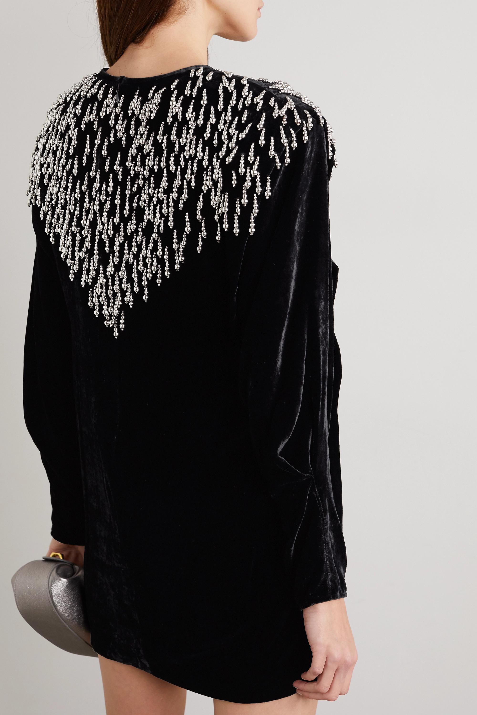 Isabel Marant Gabasi bead-embellished velvet  mini dress