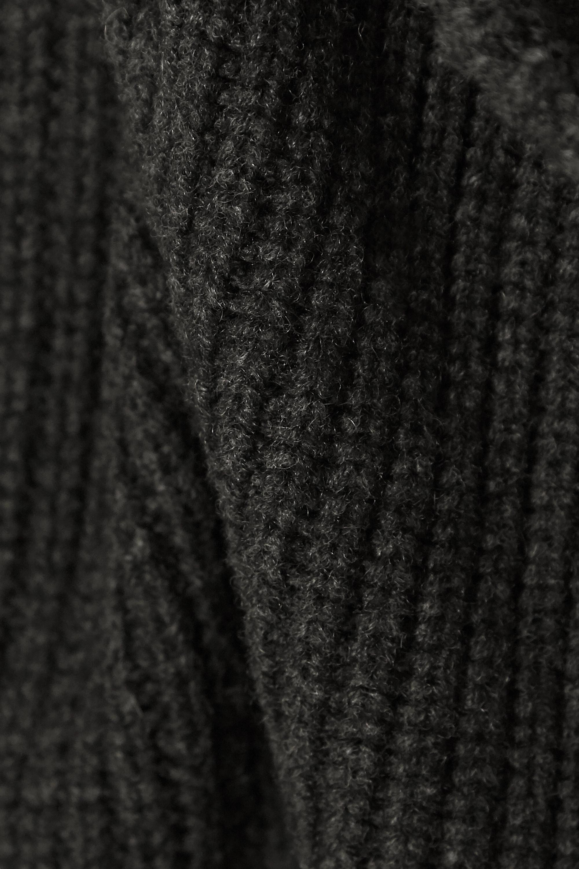 Isabel Marant Prewitt Minikleid aus einer gerippten Kaschmir-Wollmischung mit Stehkragen