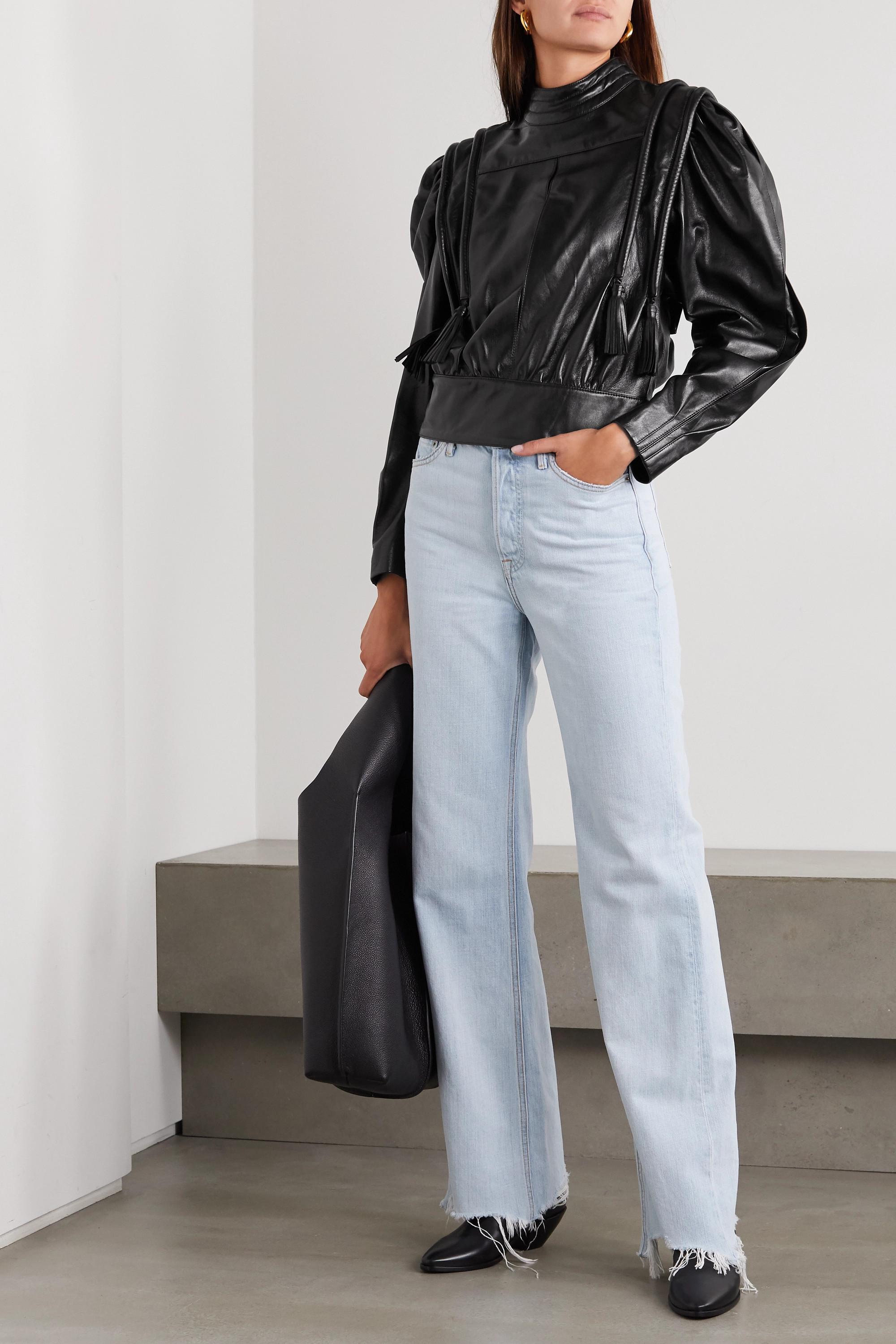 Isabel Marant Lars leather blouse
