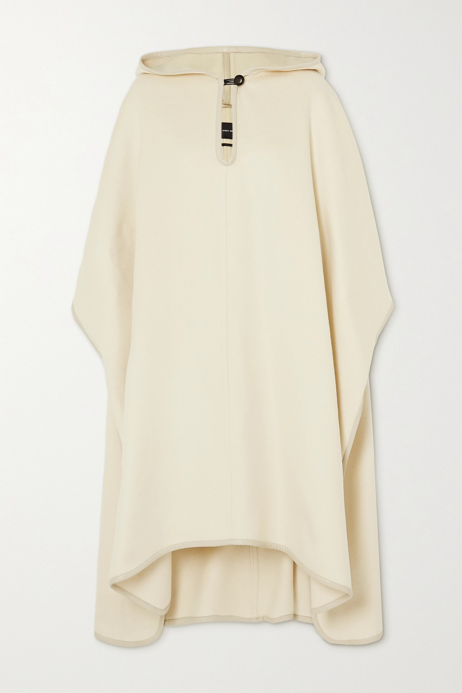 Isabel Marant Eowyn hooded faux leather-trimmed wool-blend cape