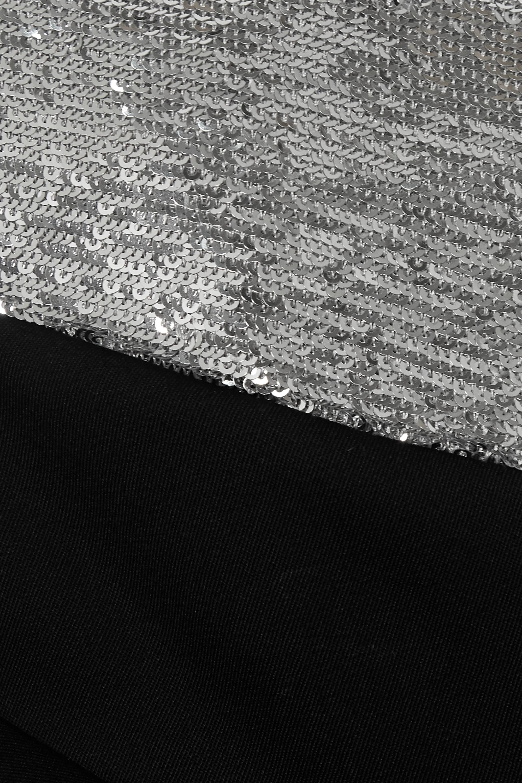 Isabel Marant Lidia one-shoulder draped sequin-embellished wool mini dress
