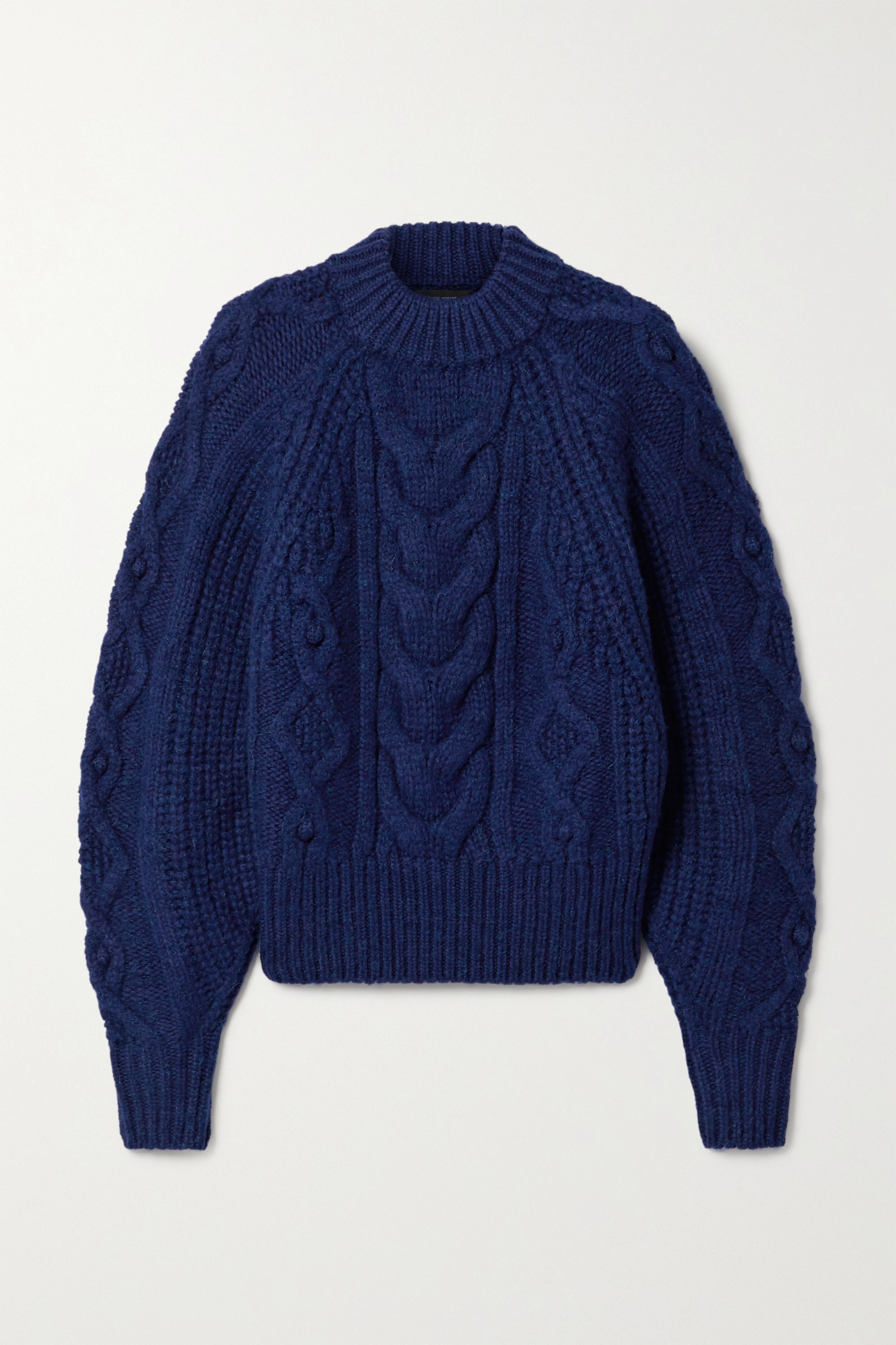Isabel Marant Flover cable-knit wool-blend sweater
