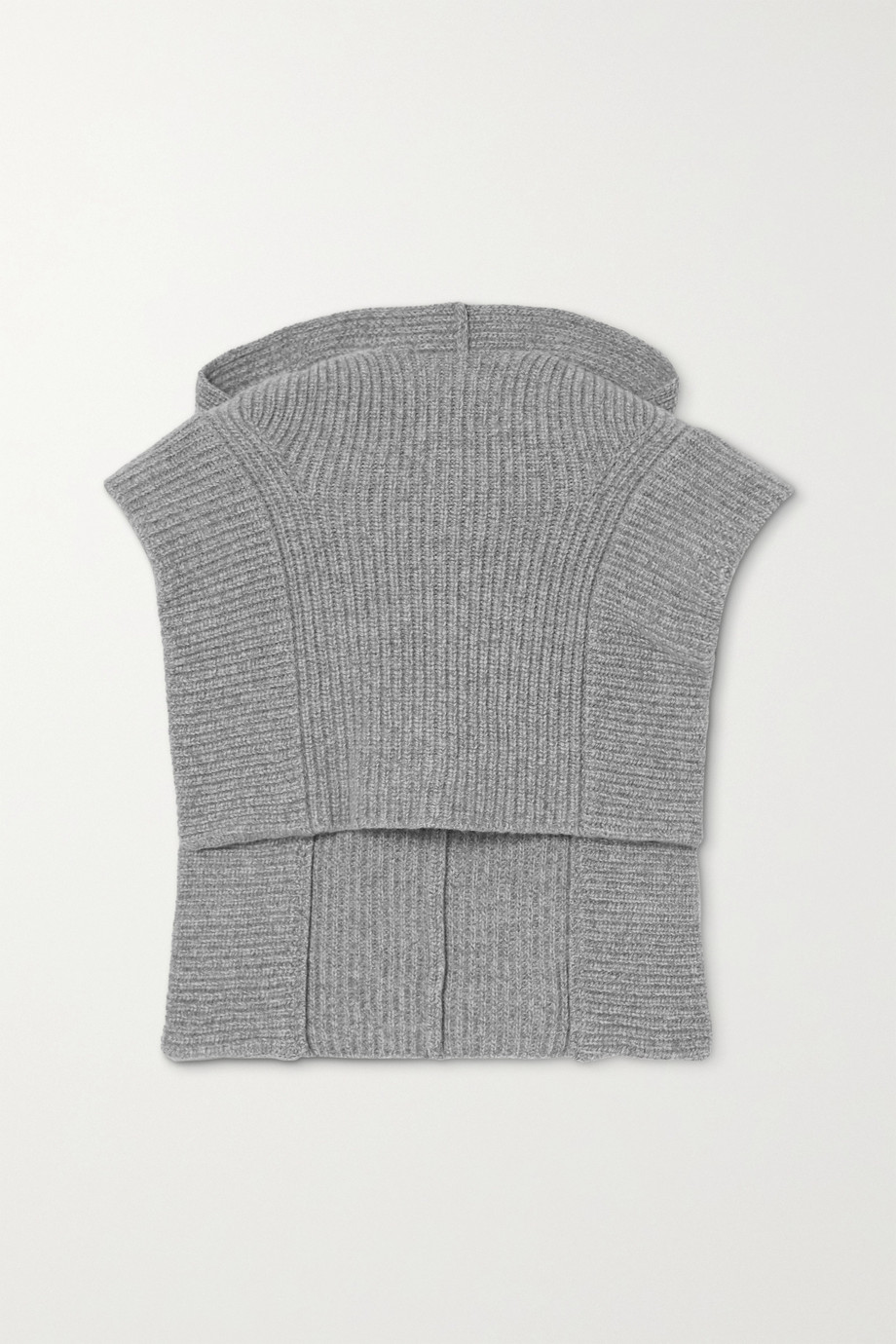 Isabel Marant Palmer ribbed cashmere and wool-blend hood