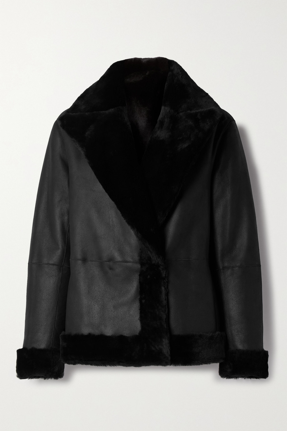 Theory Clairene reversible shearling jacket
