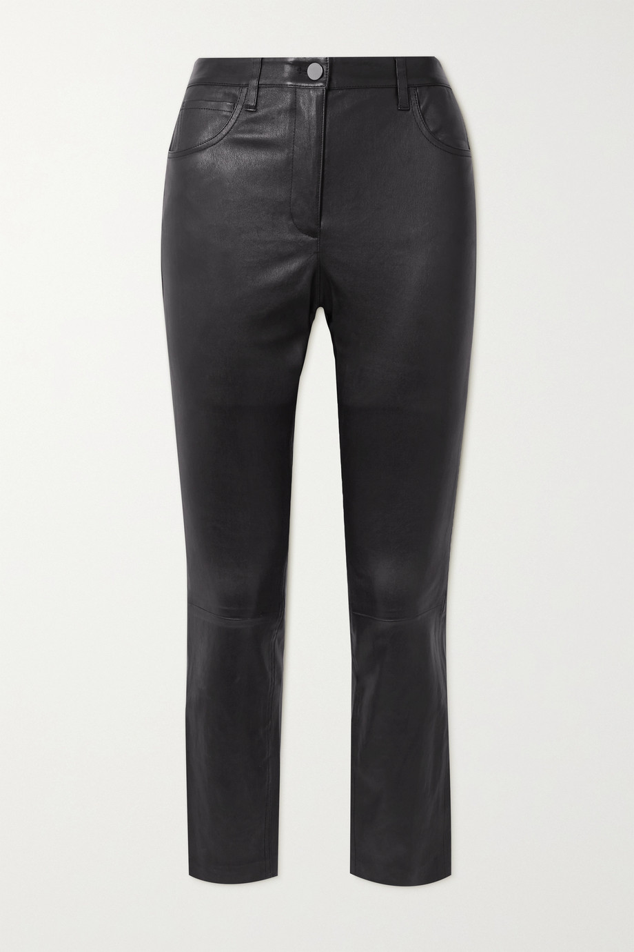 Theory Leather skinny pants