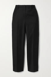 Theory Treeca cropped wool-twill tapered pants