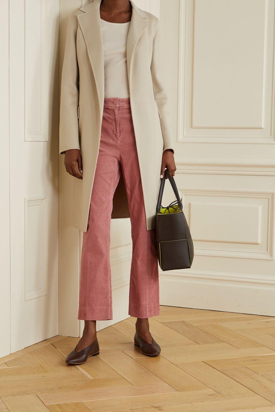 Theory Cotton-blend corduroy straight-leg pants