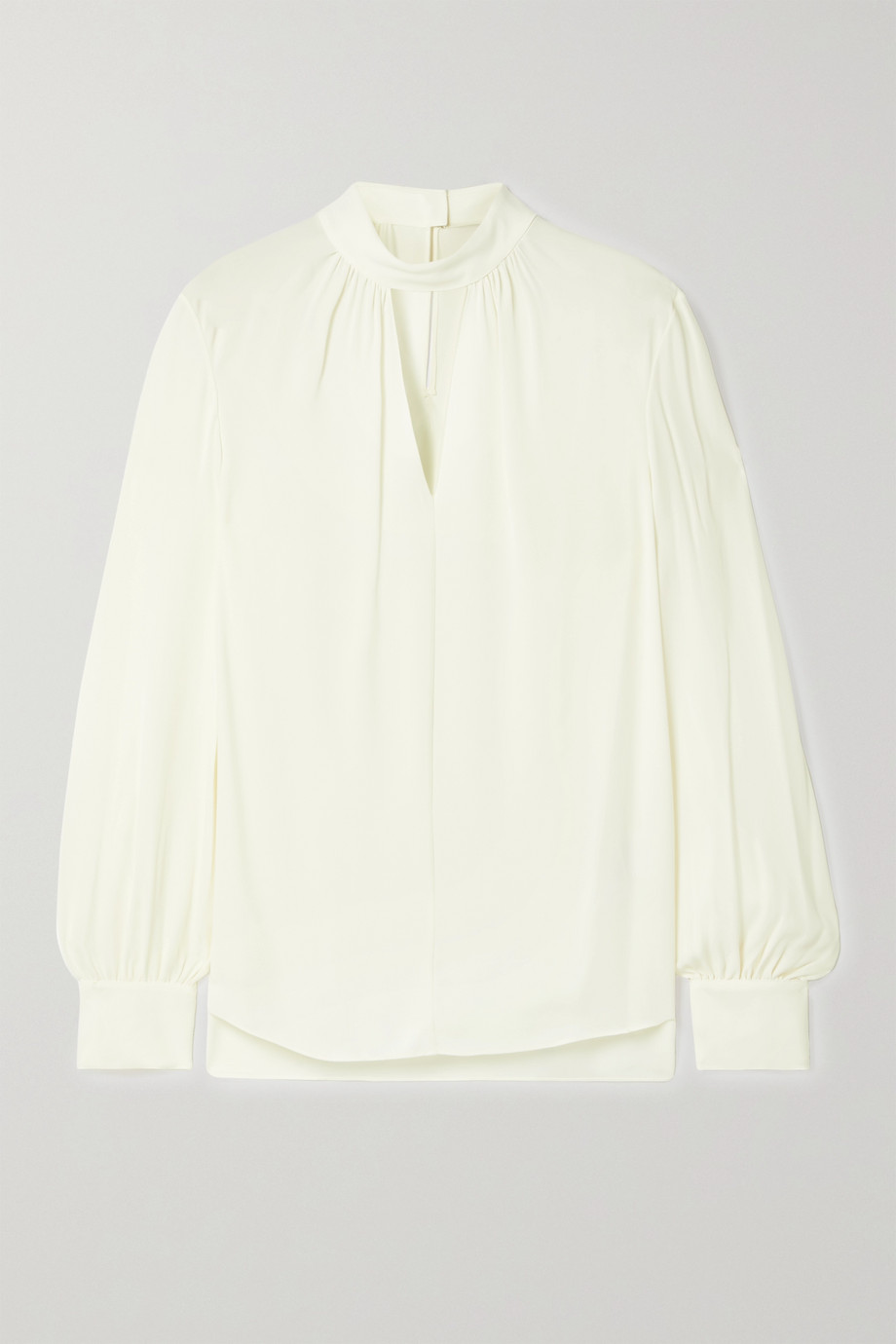 Theory Cutout silk crepe de chine blouse