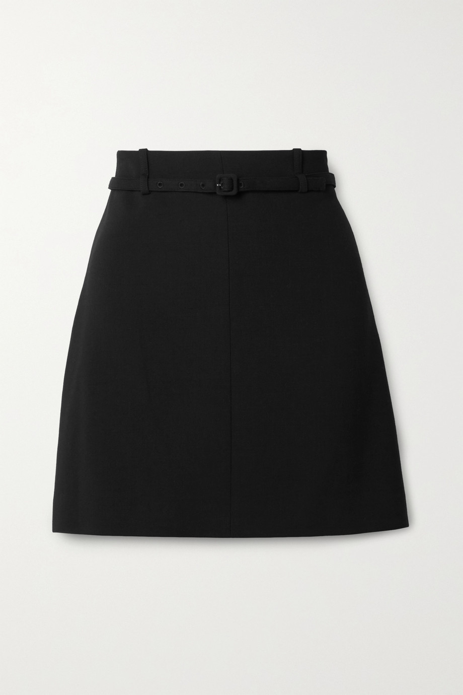 Theory Belted crepe mini skirt