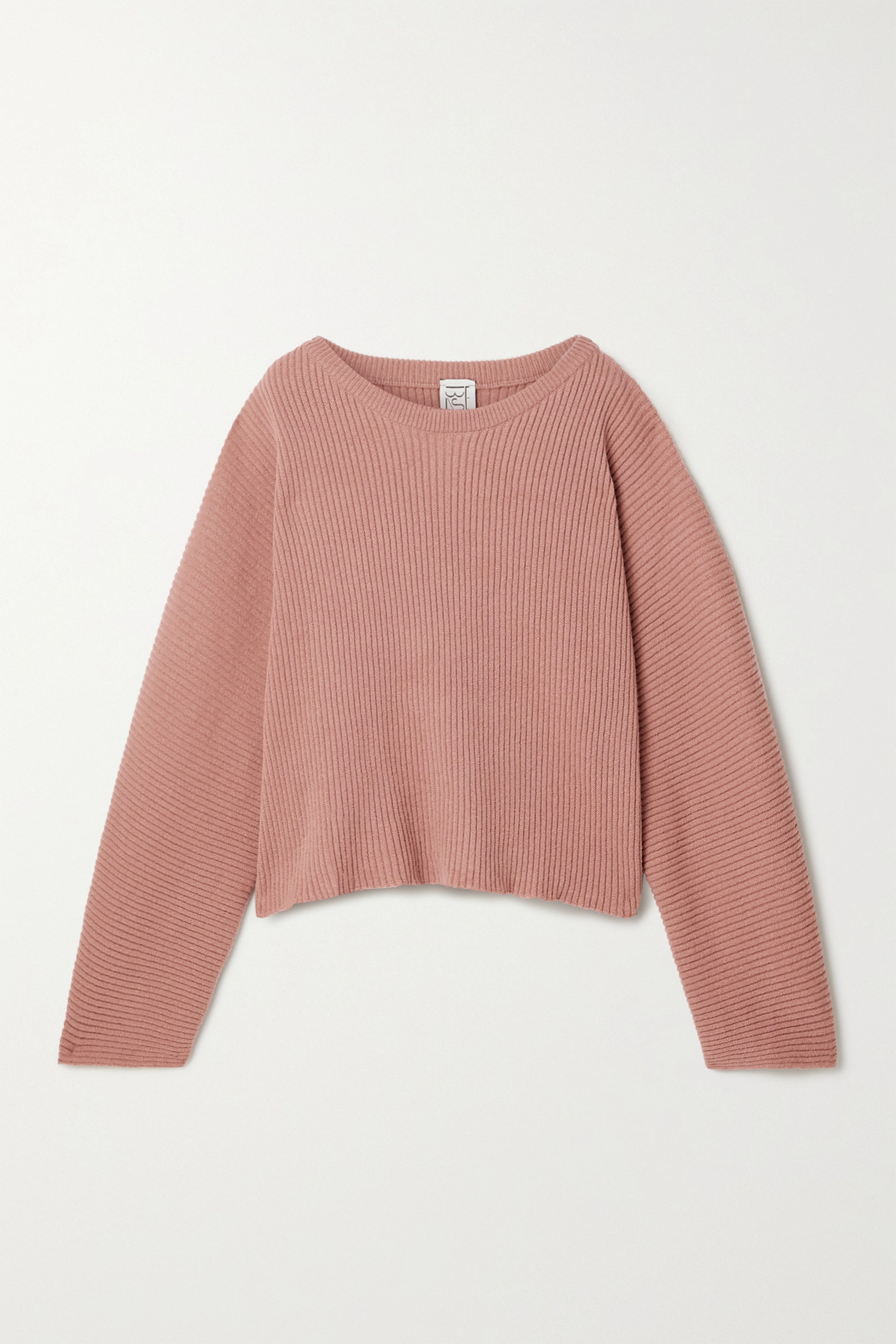 Antique Rose Kai Ribbed Merino Wool Sweater Baserange Net A Porter