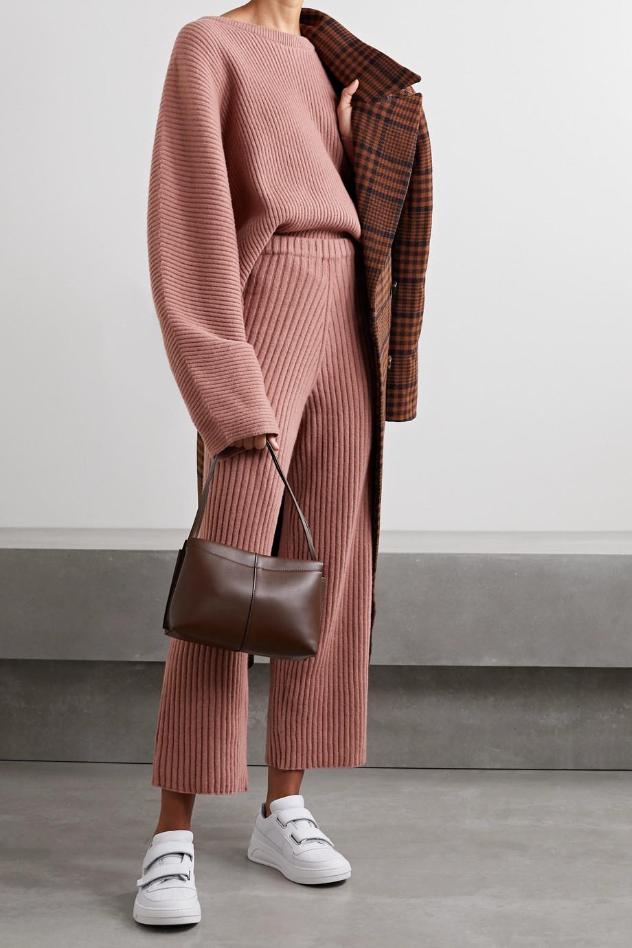 Baserange Kai gerippter Pullover aus Merinowolle