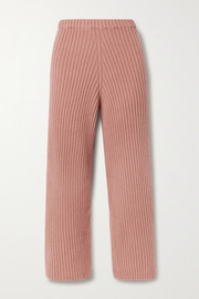 Baserange Maru cropped ribbed merino wool straight leg pants