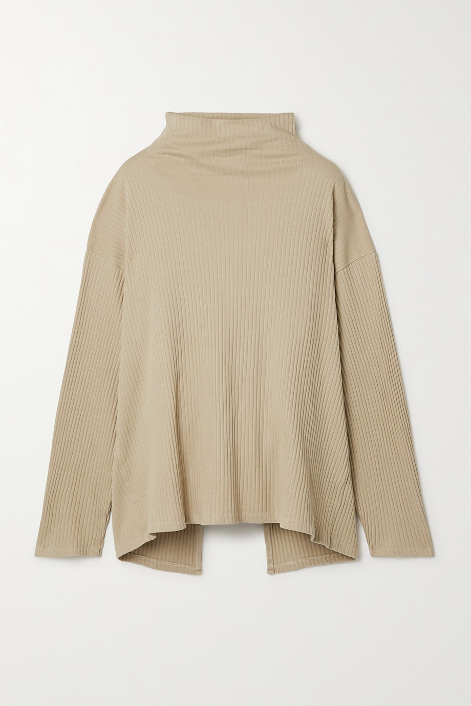 Baserange Lhasa ribbed organic cotton-jersey wrap top