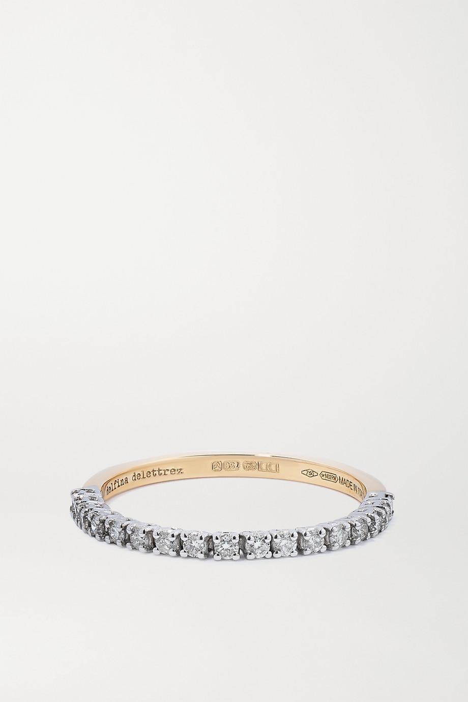Delfina Delettrez Bague en or jaune et blanc 18 carats et diamants