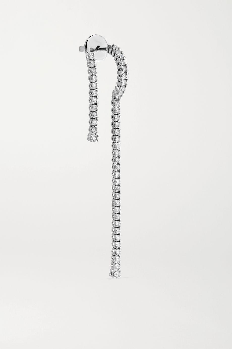Delfina Delettrez 18-karat white gold diamond earring